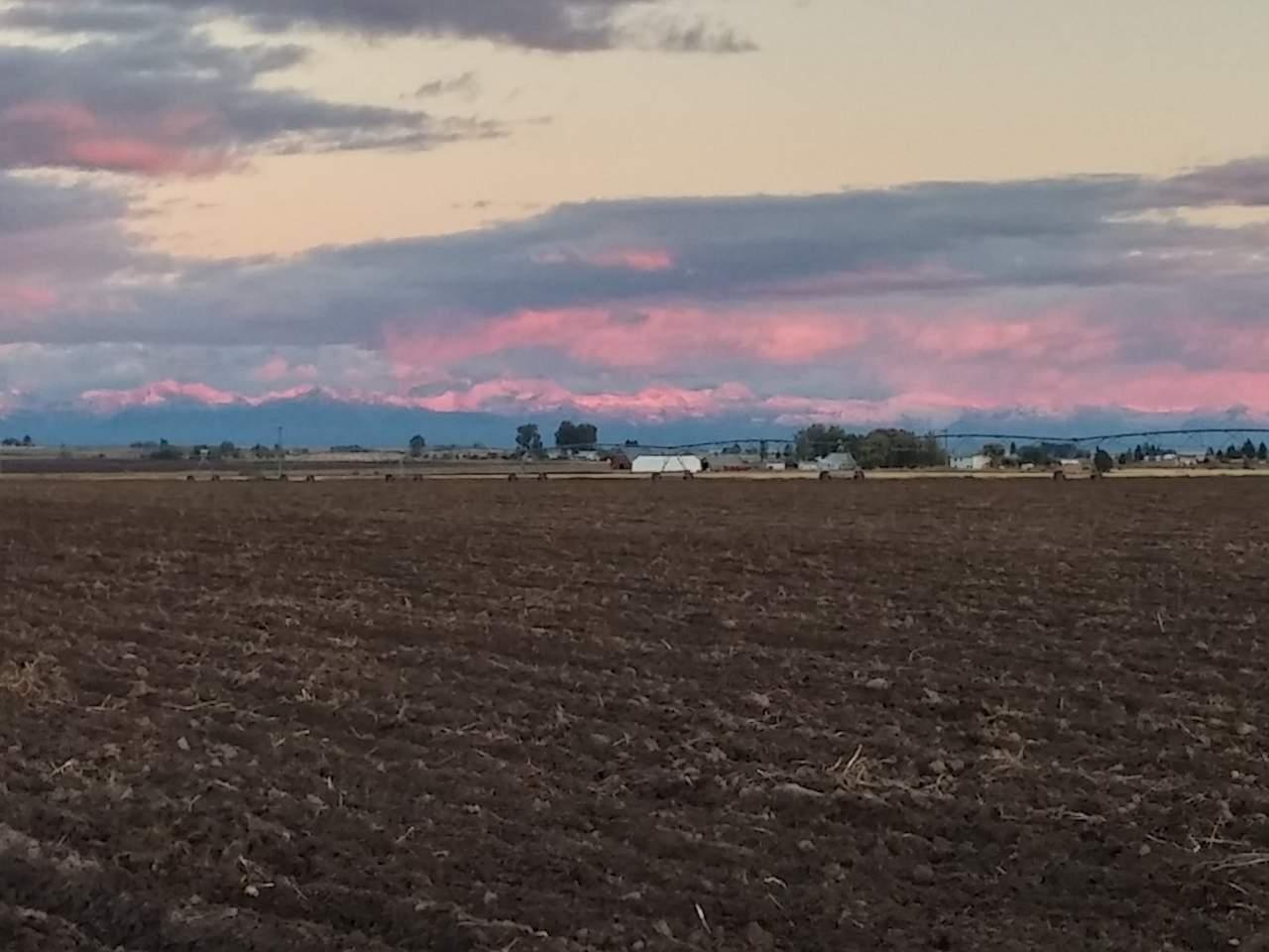 Photo of Teton Range at sunset.