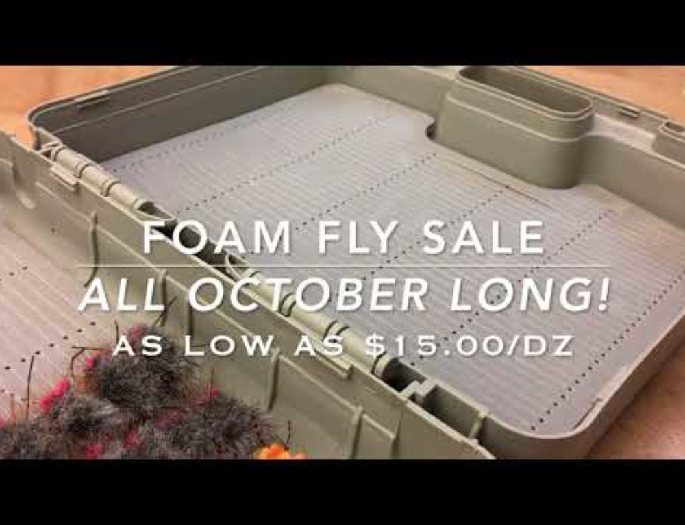 TRR Outfitters Boise Fly Shop | Foam Fly Sale | All October Long | Free Shipping over $100!